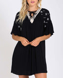 Moon & Stars Dress in Black: Alternate View #1