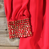 Moonstone Dress in Red: Alternate View #3
