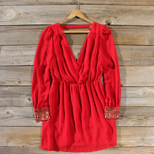 Moonstone Dress in Red: Featured Product Image