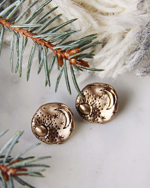 Moonstruck Earrings in Gold: Featured Product Image