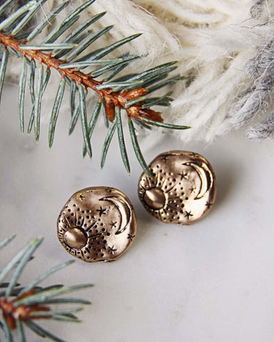 Moonstruck Earrings in Gold
