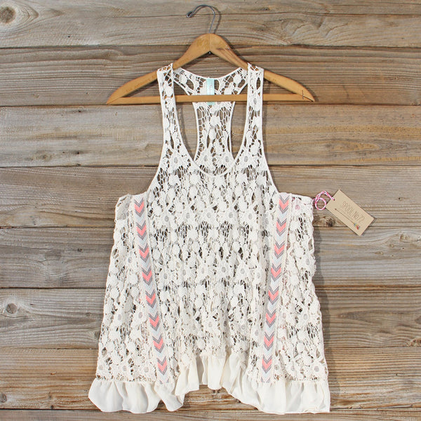 Morning Moon Lace Tank: Featured Product Image