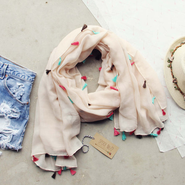 Tassel Shadow Scarf: Featured Product Image