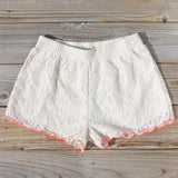Mountain Laurel Lace Shorts: Alternate View #1
