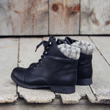 The Mountaineer Sweater Boots in Black: Alternate View #2