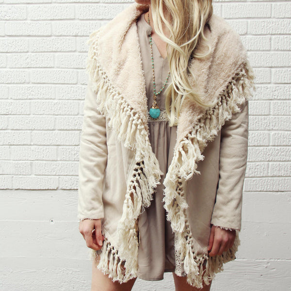 Mountain Laurel Fringe Coat: Featured Product Image