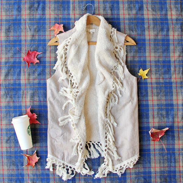 Mountain Laurel Fringe Vest: Featured Product Image