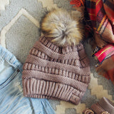 Mount Stewart Beanie in Taupe: Alternate View #1