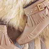 Mountain Gypsy Moccasins in Taupe: Alternate View #2