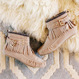 Mountain Gypsy Moccasins in Taupe: Alternate View #1