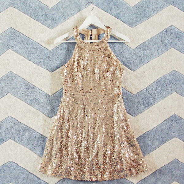 Mystic Gold Party Dress: Featured Product Image