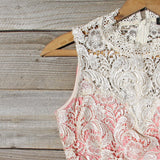 Neptune Lace Dress in Peach: Alternate View #2