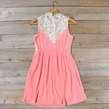 Neptune Lace Dress in Peach: Alternate View #4
