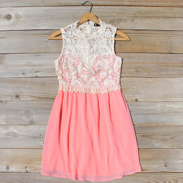 Neptune Lace Dress in Peach: Featured Product Image