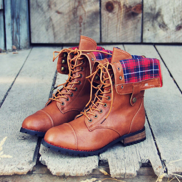 Sweater Weather Plaid Boots: Featured Product Image