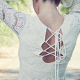 Lace & Tie Dress: Alternate View #3