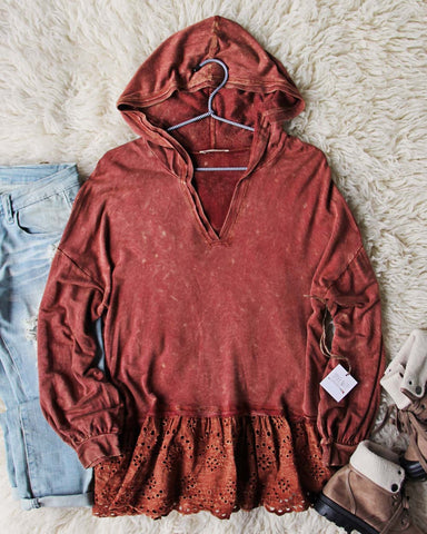 Hooded & Lace Tee