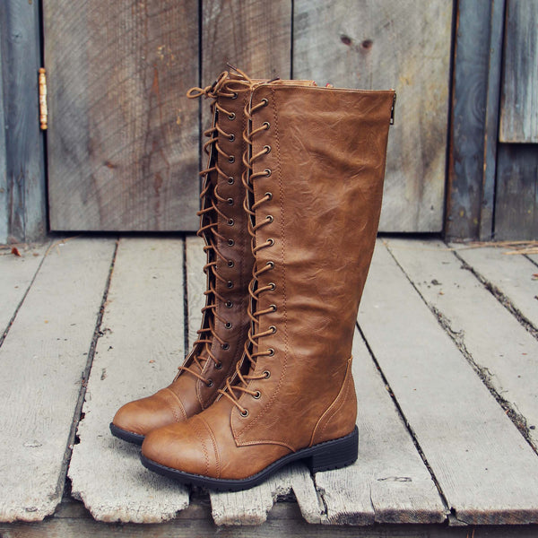 Noble Pine Lace-up Boots: Featured Product Image