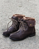 The Nor'Easter Boots in Brown: Alternate View #1