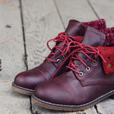 The Nor'wester Boots in Burgundy: Alternate View #2
