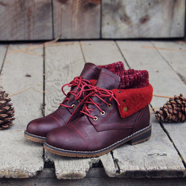 The Nor'wester Boots in Burgundy: Featured Product Image