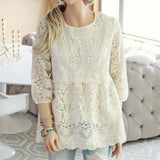 Nordic Lace Blouse: Alternate View #1