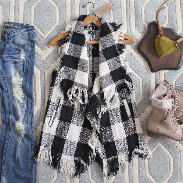 North & West Plaid Vest: Featured Product Image