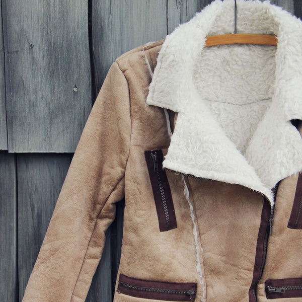North Cascades Shearling Coat: Featured Product Image