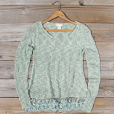 North Forest Knit Thermal in Sage: Alternate View #1