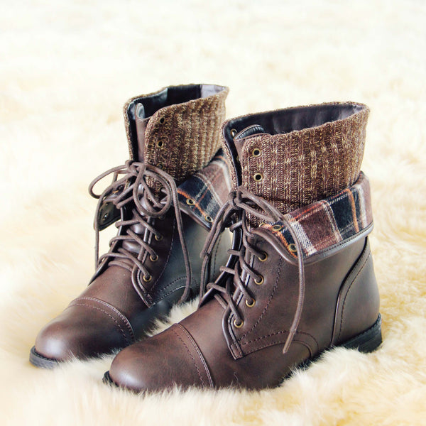 North Lodge Sweater Boots in Brown: Featured Product Image