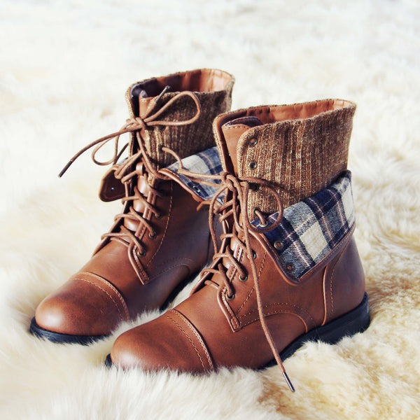North Lodge Sweater Boots in Tan: Featured Product Image
