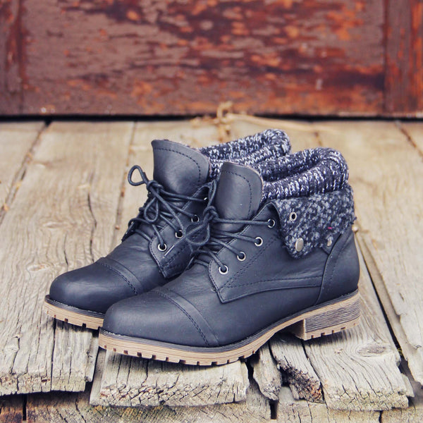 The Nor'wester Boots in Black: Featured Product Image