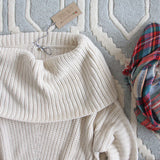 The Nubby Knit Sweater in Cream: Alternate View #2