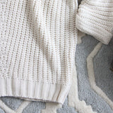 The Nubby Knit Sweater in Cream: Alternate View #3