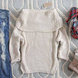 The Nubby Knit Sweater in Cream: Alternate View #4