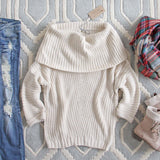 The Nubby Knit Sweater in Cream: Alternate View #1