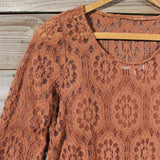 October Lace Tunic: Alternate View #2