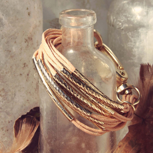 October Bundle Bracelet in Dusty Pink: Featured Product Image