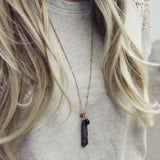 Onyx & Stone Necklace: Alternate View #2