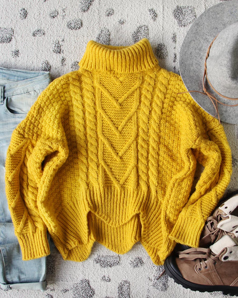 Paige Sweet Sweater in Mustard: Featured Product Image