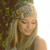 Paisley Sky Headwrap: Alternate View #1