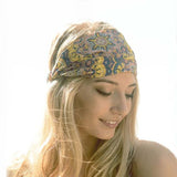 Paisley Sky Headwrap: Alternate View #2
