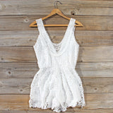 Pale Isle Romper in White: Alternate View #4