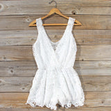 Pale Isle Romper in White: Alternate View #1