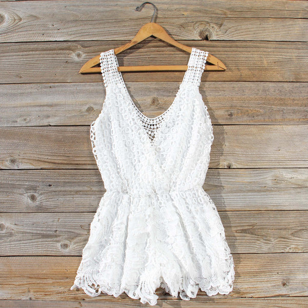Pale Isle Romper in White: Featured Product Image