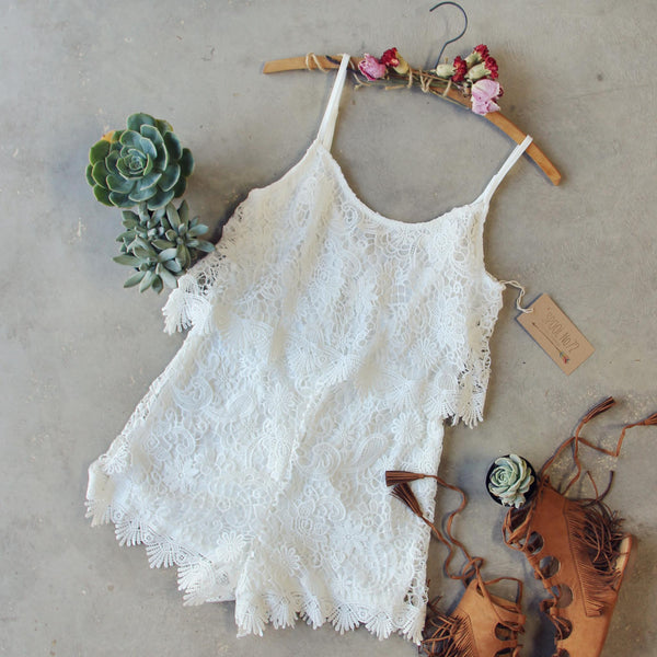 Palm Lace Romper: Featured Product Image