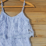 Palm Lace Romper in Sky: Alternate View #2
