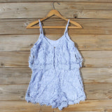 Palm Lace Romper in Sky: Alternate View #4