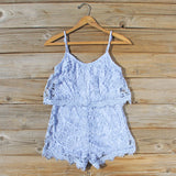Palm Lace Romper in Sky: Alternate View #1