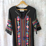 Palm Springs Kaftan Dress in Black: Alternate View #1